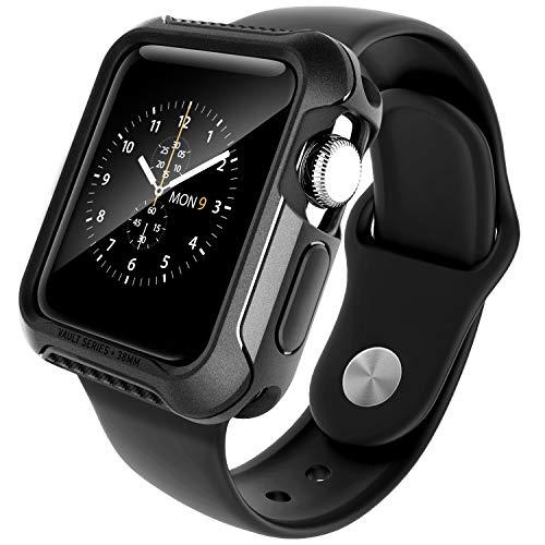 Caseology Vault for Apple Watch Series 2-38mm Case (2015) - Rugged & Flexible - Matte Black