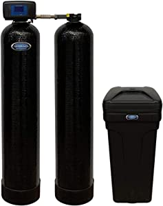 Discount Water Softeners Genesis 2 Duo 48,000 Grain Water Softener and Whole House Chlorine Filtration and Removal System, Digital Metered, High Efficiency, Direct Flow and Upflow Brining