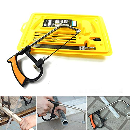 Mini hand saw,magic saw, 8pc Handsaws Set Universal Hand Saw Kit Toolbox Of Multi Blades Set Works As Hacksaw Coping Bow Jab Rip Pruning Chain Handsaws A Cutter Suitable To Cut Wood PVC Pipes Glass by JCTKFTS (Image #3)