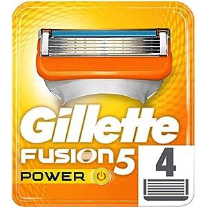 Gillette Fusion – Power – Lames de Rasoir pour Homme – Pack de 4