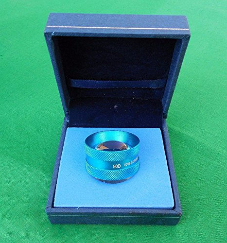 Top Quality 90D Blue Clear Double Aspheric lens Ophthalmology Equipment Accessories with Case