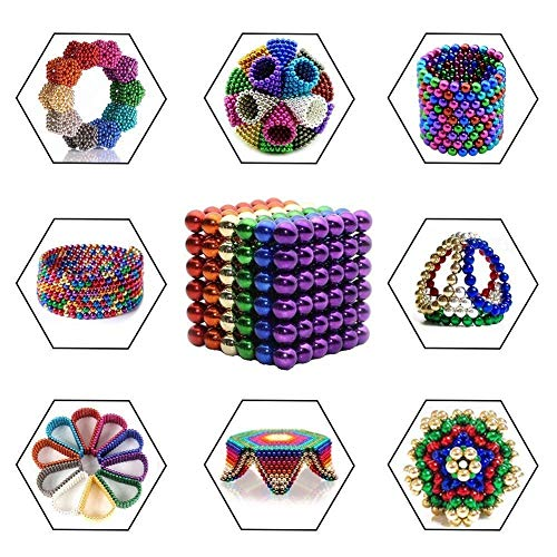 R&L Magnetic Sphere 216 PCS + 6, 5mm Fidget Toy for Education and Intelligent Development (Multi-Color) by R&L (Image #2)
