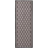 Nance Industries Non Slip Kitchen-Bath-Hallway Runner Mat, 22 W x 10 L, Mosaic Midnight Black