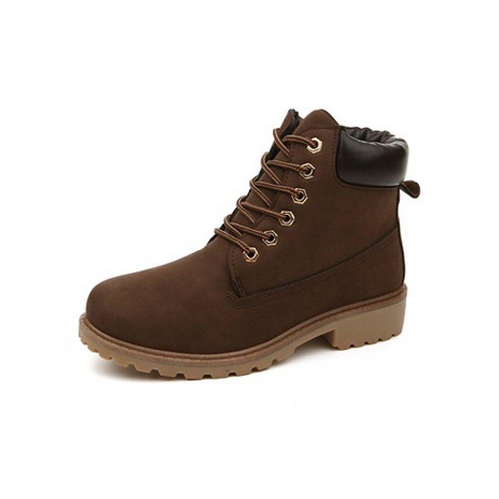 CHNHIRA Martin de Bottes Laine Boots Boots Chaussure de Couples Cheval Chaussures de Randonnée Couples Chaussure Montantes Femme Brun 5d53c97 - shopssong.space