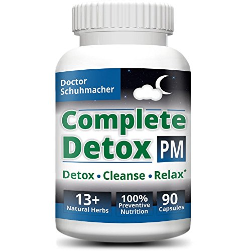 #1 Complete Detox PM - Rapid whole body detox with support for deeper sleep & better relaxation - Colon, Liver, Lymph, Kidney cleanse with Goji berries & 13+ other top quality natural herbs