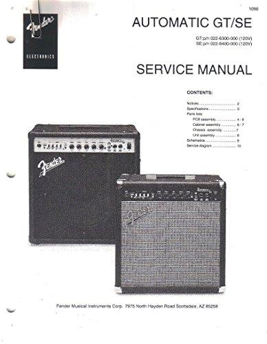 (FENDER Automatic GT/SE Amp Amplifier Service Manual Repair Guide)