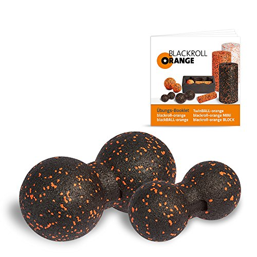 Blackroll Orange (Das Original) DIE Selbstmassagerolle - TwinBALL-orange-Set 8 & 12cm