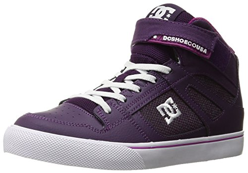 DC Kids Youth Spartan High EV Skate Shoes Sneaker, Purple, 6 M US Big (Purple Dc Shoes)