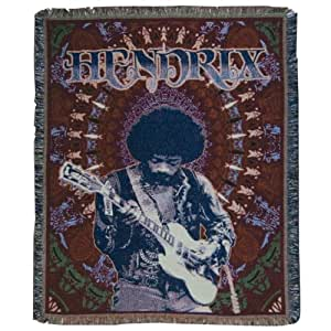 Amazon Com Jimi Hendrix Psychedelic Jam Throw Rug