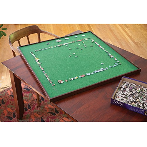 (Bits and Pieces - Square Jigsaw Puzzle Spinner - Puzzle Accessories- Lazy Susan Puzzle Table Surface Fits 1500 pc Puzzles - Spin Puzzle to Reach Sections You Need)