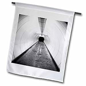 Danita Delimont - Paths - Singapore, Illuminated pedestrian tunnel, paths-AS32 MWR0011 - Micah Wright - 18 x 27 inch Garden Flag (fl_74110_2)