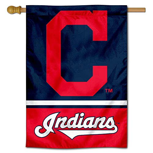Cleveland Indians Banner (WinCraft Cleveland Indians Two Sided House Flag)