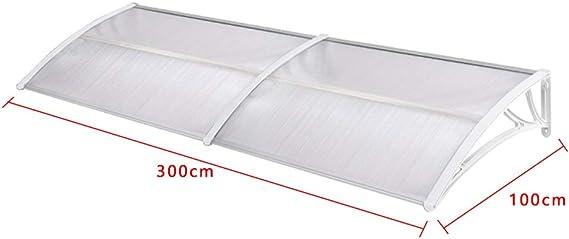 Froadp 200x100cm Pultvordach Vordach T/ürdach Sonnenschutz Pultbogenvordach Vordach Regenschutz /Überdachung Wei/ß