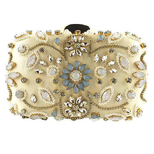 - Anxinke Women Fashion Beaded Evening Party Crossbody (Gold)