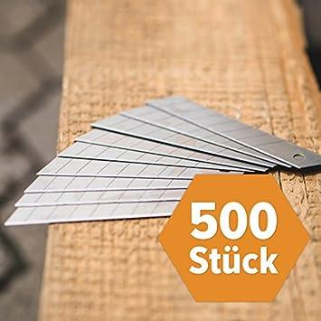 Ersatzklingen für Cuttermesser 18 mm 100 St FRONTTOOL Abbrechklingen