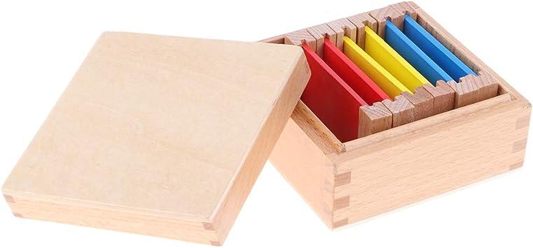 Juguete Educativo Niños Colores Primarios con Caja de Colección de Madera Herramientas de Enseñanza Preescolar: Amazon.es: Juguetes y juegos