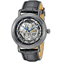 Lucien Piccard Men's 40036A-BLK-01 Paragon Analog Display Automatic Self Wind Black Watch
