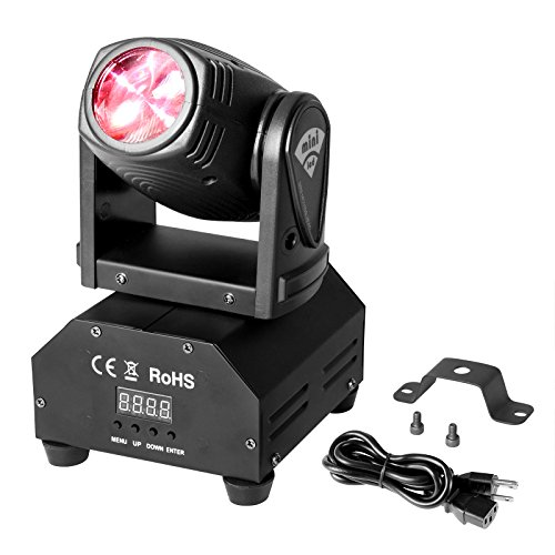 DMX DJ Moving Head Beam Light 30W Sound Activated RGBW 11/13CH Spot Stage Lighting Rotation for Disco DJ Clubs KTV Pub Bar Party