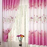 seguryy 1pc 1M x 2M Butterfly Printing Curtains Fresh Countryside Ke Bridge Door Window Decorating