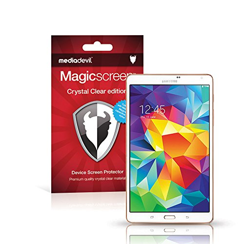 "MediaDevil Samsung Galaxy Tab S 8.4"" Wi-Fi Screen Protector: Magicscreen Crystal Clear (Invisible) Edition - (2 x Protectors)"