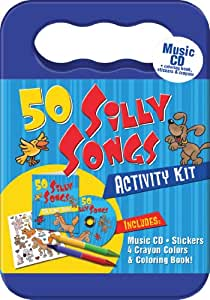 50 Silly Songs CD Activity Kit (Packaged in carrying case with Stickers, Crayons and Coloring Book)