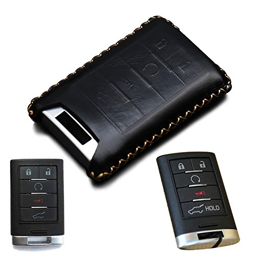 Cadillac Remote Key Fob Case Shell Cover for Cadillac DTS CTS STS XTS ATS SRX Escalade 5 Buttons