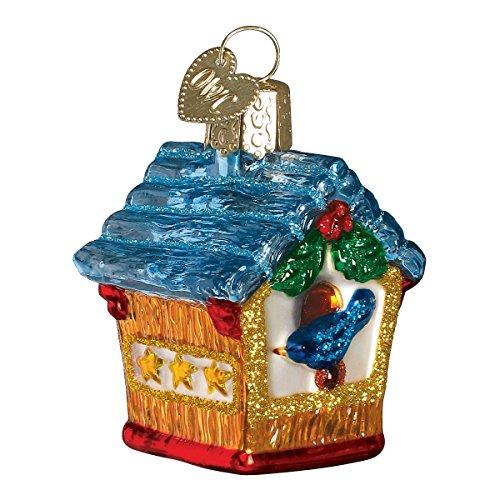Old World Christmas Miniature Birdhouse Glass Blown Ornament