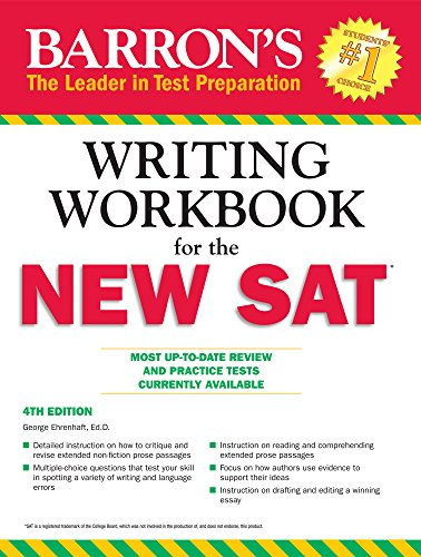 amazon com barron s writing workbook for the new sat 4th edition