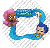 6'' Round ~ Bubble Guppies Photo Frame Birthday ~ Edible Image Cake/Cupcake Topper!!!