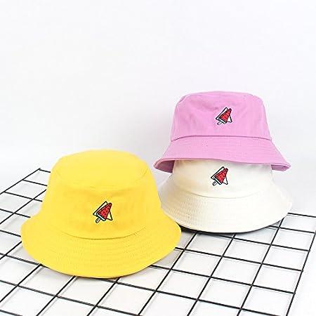 Chapeau Bob Pecheur en Motif de Past/èque Chapeau de Soleil Pliable Anti-UV Protection /Ét/é pour Femmes Fablcrew