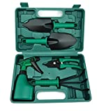 V-NO 5 Piece Garden Tools Set - Gardening Tools - Gardening Gifts Tool Set with Garden Trowel Pruners and More - Vegetable Herb Garden Hand Tools with Storage Box