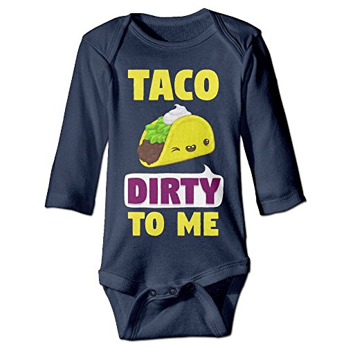 [Baby Bodysuit Taco Dirty To Me One Piece Baby Long Sleeve Unisex Jumpsuit 6 M Navy] (Boxing Costume Walmart)