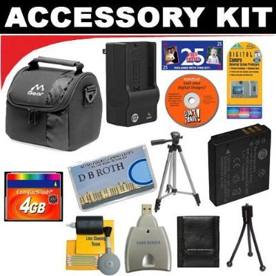430rs Digital Camera Battery - 4GB DB ROTH Deluxe Accessory kit For The Pentax Optio 430RS, 330RS, 430 Digital Cameras