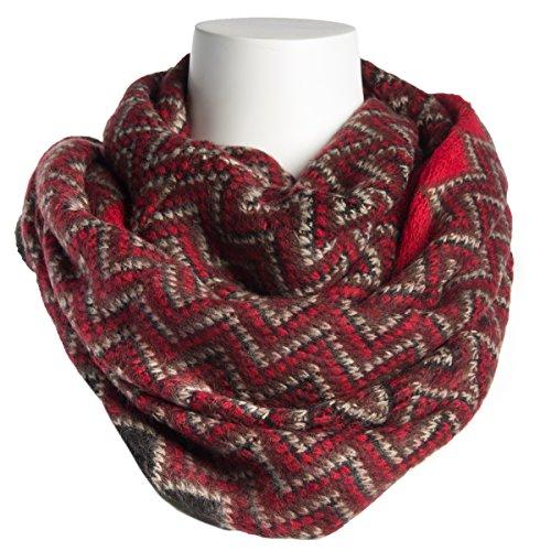 Tickled Pink Women's Chevron Infinity Scarf Soft Warm Winter Lightweight Oversized Shawl Wrap