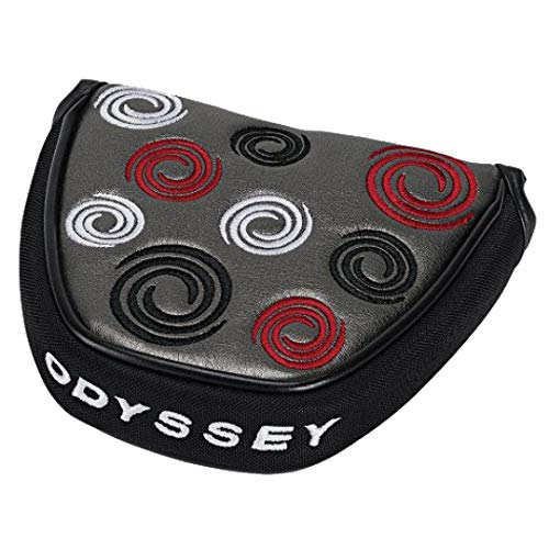 Ball Odyssey Headcover 2 Putter (ODYSSEY Silver Swirl Mallet Putter Cover)
