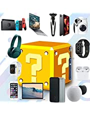 HTDZSW Mystery Box Electronics - Random Gift Surprise Box for Cell Phones/Tablets/Cameras/Smartwatches/Bluetooth Headphones/Speakers/Solid State U-Disks/Electric Toothbrushes etc