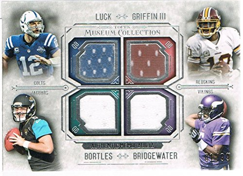 2014 Museum Quad Game Used FPQRLBGM Andrew Luck NM/M (Near - Mint Museum
