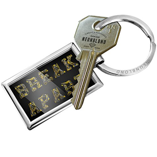 Keychain Break Apart Modern Art Design - NEONBLOND (Chain Apart Break)