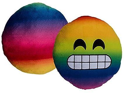 Cojín suave peluche Emotion Smile 30 cm sofá cama WhatsApp Multicolor New