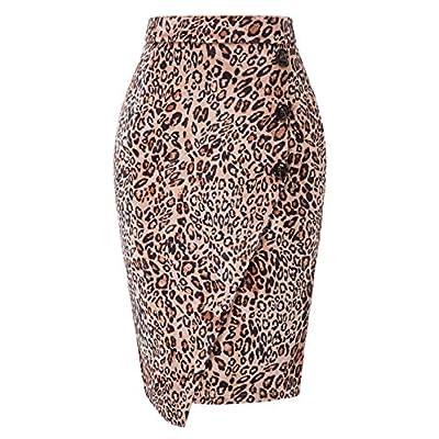 GRACE KARIN Women's Elastic Waist Stretch Bodycon Midi Wear to Work Pencil Skirt at Women's Clothing store