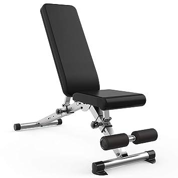 ... con mancuernas Niveles ajustables Levantamiento de pesas Banco inclinado plano Ejercicio de entrenamiento Banco de ejercicios para todo el cuerpo ...