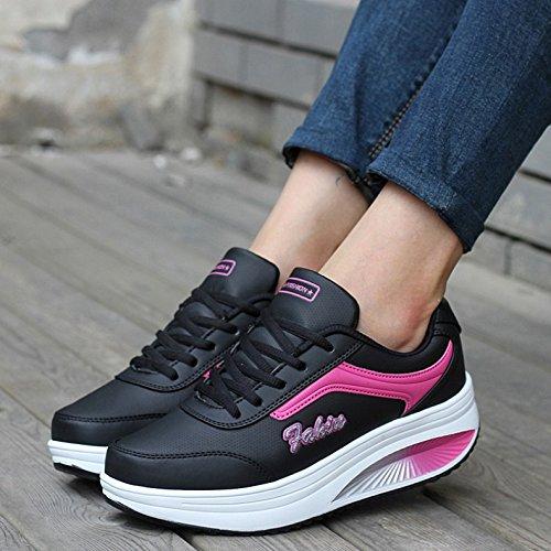 Garder Air Plein Chaussures De Jogging Au Sport Le Confortables Les Course Noir Baskets Hivernales Pour Femmes Augmenter Femmes Uk5 En Chaud 5 SwqCX