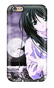 Tpu Fashionable Design Purple Girl New Year Animes Rugged Case Cover For Iphone 6 New