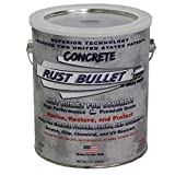 Rust Bullet RBCONG Metallic Gray Protective Floor Coating for Concrete, 1 gal