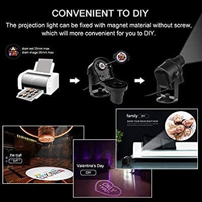 Diglot LED Christmas Projector Lights 2017 New DIY LED Projector Landscape Lighting with 6+24 Pattern Gobos 360° Rotating & Anti-fading Waterproof Films for Halloween Weeding Party Home Decor