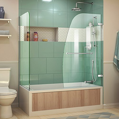 Return Panel (DreamLine Aqua Uno 56-60 in. W x 30 in. D x 58 in. H Frameless Hinged Tub Door with Return Panel in Chrome, SHDR-3534586-RT-01)