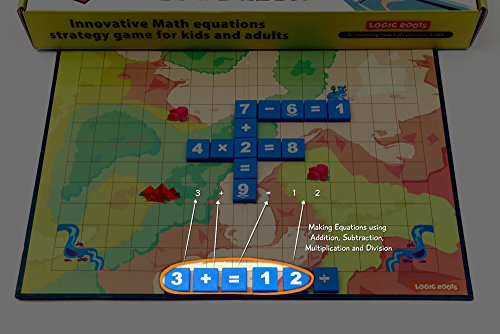 Math Builder Number Scrabble Junior Board Game With Equations and Arithmetic Skills Stem Toy Math Manipulative by LogicRoots (Image #2)