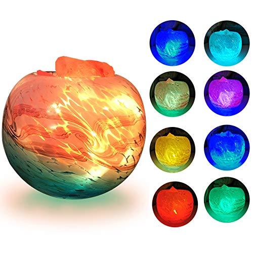 FANHAO Himalayan Salt Lamp with Warm Light and Multi Colors Changing, USB Himilian Sea Salt Crystal...