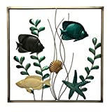 Boston Warehouse Metal Wall Décor, Tropical Fish, 20″x20″ Review