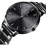 STONE Womens Watch,Black Stainless Steel...